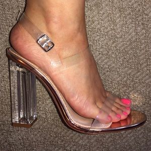 Shoes - NEW IN BOX Clear Perspex Heels